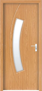 Glass Insert Wood Interior Door (WX-PW-182)