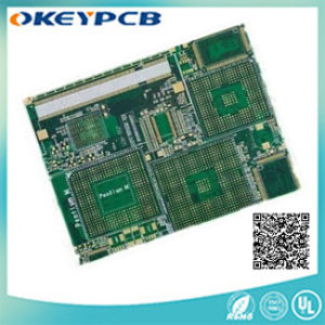 Printed Circuit Board with Green Solder Mask;
