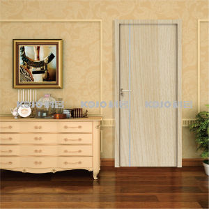 No Formaldehyde Wood Plastic Composite WPC Security Entry Door (KM-03) pictures & photos