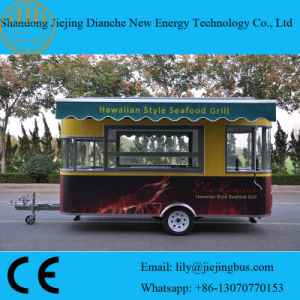 Red Color Mobile Kitchen Trailer Manufacturer for Selling Grilled Food pictures & photos