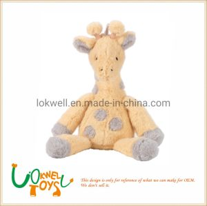 Yellow Gray Plush Giraffe Stuffed Animal Toys