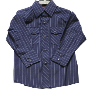 T/C 65/35 Y/D Check Boy′s L/S Shirt