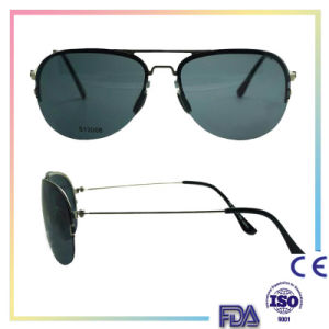 2016 Black Metal Fashion Sunglasses with Custom Logo