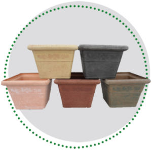 Recycled Plastic Flower Pot -10eds30