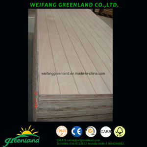 Decorated Plywood with Grooves pictures & photos