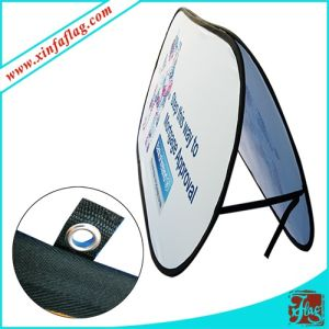 Portable Folding Pop up a-Frame Outdoor Event Display Flag Banner