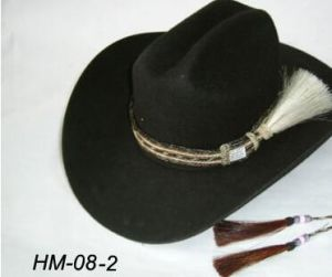 Woven Horsehair Hat Band Horse Hair Tassel for Sell Hot Sell Horse Hair Hat  Band for Cowboy Hat