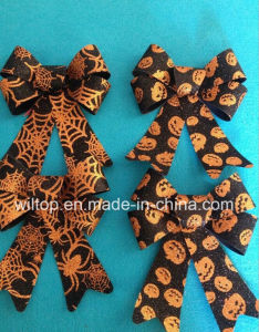 Halloween Glitter Pumpkin and Web Bow Ties (PM028) pictures & photos