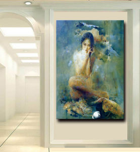 Factory Direct High Quality Handmade Modern Canvas Art Impressionistic Nude Woman Body Oil Painting pictures & photos