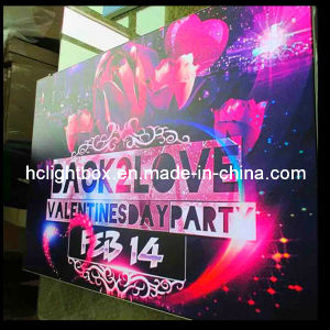LED Backlit Advertisement Signs Indoor Signage LED Frameless Fabric Poster Light Box