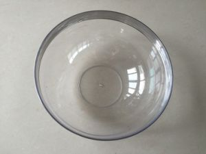 "9.5"" Plastic Round Salas Bowl with Silver Rim (SRB95)"