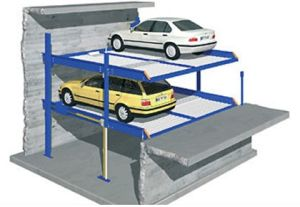 Dps4-10 Parking Lift in Pit for Four Cars