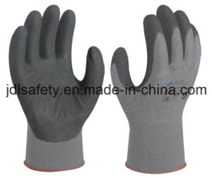 Polyamide Safety Glove with Sandy Nitrile Coating (N1558) pictures & photos