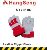 CE Certificated Preimum Quality Cow Split Rigger Glove (ST7010R) pictures & photos