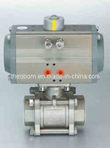 3PC Thread Pneumatic Ball Valve