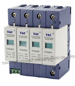 SPD/Power Surge Protector/Surge Arrester (TCPA20-B/4) with CE Certificate