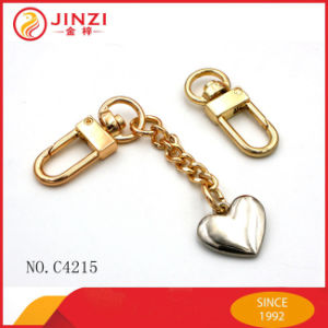 Popular Zinc Alloy Small Metal Keychain Hook pictures & photos