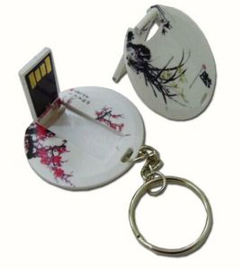 Round Card Webkey Auto Play Website Card USB Promotional Gift