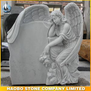 Top Carving Angel Sculpture Memorials Headstone for Sale