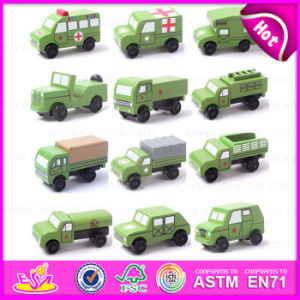 2015 Hot Sale Kids Wooden Military Vehicles, Wooden Car Toy Mini Military Vehicles, Green Color Mini Military Vehicles Toy W04A154 pictures & photos