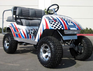 300 Cc, Four Stroke Gas Powered Golf Utility Vehicle