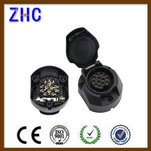 European Type 13 Pin PVC Plastic Waterproof Trailer Socket pictures & photos