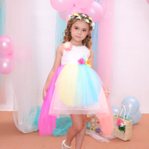 China rainbow color kids wedding dresses princess dresses for kids rainbow color kids wedding dresses princess dresses for kids 523a junglespirit Image collections