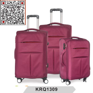 Soft Nylon Double Wheel Inside Trolley Luggage pictures & photos