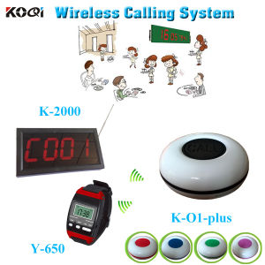 Wireless Call Calling System Waiter Server Service Paging System for Restaurant Wrist Watch Receiver Calling Buttons pictures & photos
