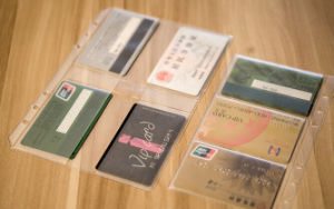 Eco-Friendly Clear PVC Vinyl Card Bag