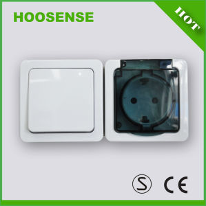 Good Switch Hoosense Electrical Appliance Manufacturing 1 Gang 1 Way Switch Schuko Socket H2-A110GM