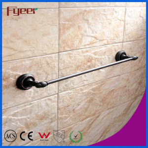 Fyeer Black Series Bathroom Fittings Brass Single Towel Bar pictures & photos
