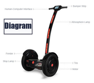 Chinese Manufacturer 15 Inch Two Wheels Electric Self Balance Scooter (KW-C002)