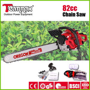 Teammax 82cc High Quality Professional Petrol Chain Saw with Oregon Chain pictures & photos