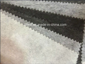 Nonwoven Fusible Fabric Interlining with White Black (8018D) pictures & photos