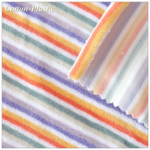 Thin Stripe Cotton Polyester Velvet Fabric for Fashion Garment
