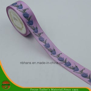 High Quality Polyester Satin Ribbon with Printing for Garment (ST-01) pictures & photos