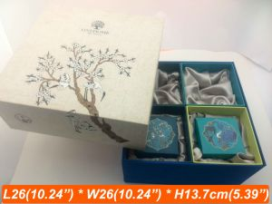 Linen Fabric Printing Colorful Boxes Gift Present Box