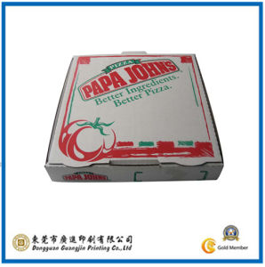 White Corrugated Paper Pizza Box (GJ-Box405) pictures & photos