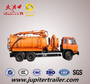 Vacuum Tanker Truck with Jetting, Tankering and Recycling Semi Trailerfacility