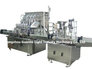 Automatic Engine Oil Filling Machine with Capping Sealing Labeling Line pictures & photos