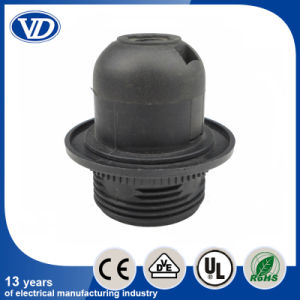 Plastic Snap Type E27 Lampholder Half Threading Body with Ring