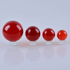 Red Color Crystal Glass Colored Crystal Ball 40mm, 50mm, 60mm, pictures & photos