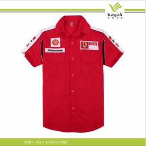 Pit Crew Shirts >> Custom Made Red And White Embroidery F1 Pit Crew Shirts Ky F009
