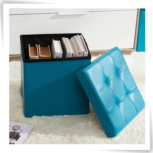 Magic Cube Folding Foldable Leather Storage Box for Home