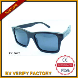 Alibaba Trade Assurance Square Wooden Sunglasses (FX15047) pictures & photos