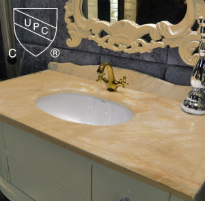 Oval Porcelain Undermount Sink for Bathroom with Cupc (SN013)