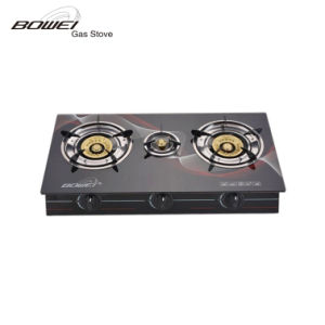 Universal Model Black Tempered Glass Double Burners Range Style Cookers