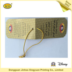 Customize Paper Hang Tag for Apparel (JHXY-HT0010)