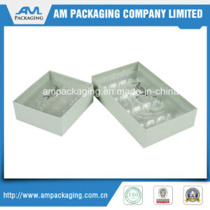 Clear Lid Bespoke Logo Plastic Tray Macaron Packaging Paper Gift Box